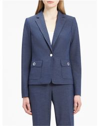 CALVIN KLEIN 205W39NYC - Chambray Grommet Suit Jacket - Lyst