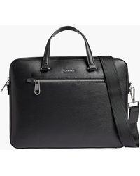 Calvin Klein Laptoptasche aus recyceltem Material - Schwarz