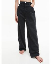 Calvin Klein High Rise Recycled Cotton Jeans - Black