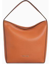 Calvin Klein Leren Hobo Bag - Bruin