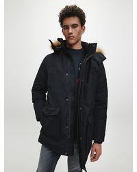 Calvin Klein Hooded Down Parka Coat - Black