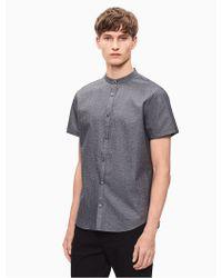 CALVIN KLEIN 205W39NYC - Regular Fit Seersucker Short Sleeve Shirt - Lyst