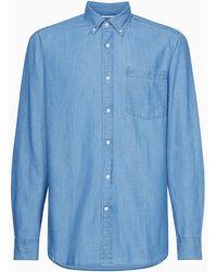 Calvin Klein Button-down Denim Shirt - Blue