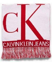 Calvin Klein Sjaal Met Logo - Rood
