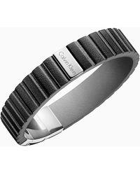 Calvin Klein Armband - Plate - Zwart