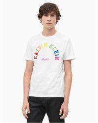 53924828ba55 CALVIN KLEIN 205W39NYC - Pride Rainbow Ckj Logo T-shirt - Lyst