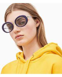 Calvin Klein Ovale Zonnebril Ckj18701s - Paars