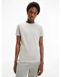 Calvin Klein - Slim T-shirt Van Biologisch Katoen - Lyst