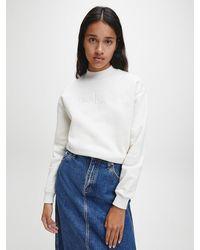 Calvin Klein - Gerecycled Sweatshirt Van Katoenmix - Lyst