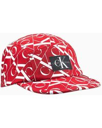 Calvin Klein Uniseks Pet Volledig Bedrukt Met Logo - Rood