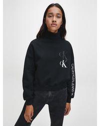 Calvin Klein - Gerecycled Sweatshirt Van Katoenmix Met Logo - Lyst