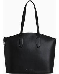Calvin Klein Lock Leren Tote Bag - Zwart