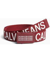 Calvin Klein Canvas Belt - Red
