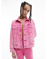 Calvin Klein Relaxed Spijkerjas - Roze