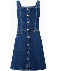 Calvin Klein Denim Mini-jurk - Blauw