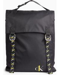 Calvin Klein Grand sac dos rabat - CK ONE - Noir