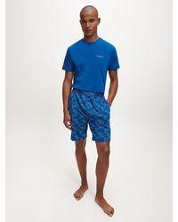 Calvin Klein Pyjama Met Short - Blauw