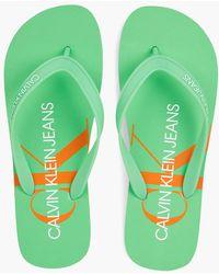 Calvin Klein Flip-Flops - Grün