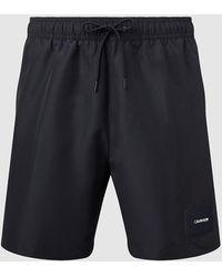 Calvin Klein Ba�ador de largo medio con cord�n - Negro