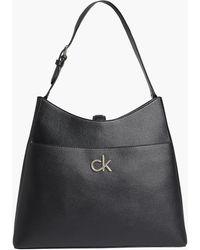 Calvin Klein Recycled Hobo Bag - Black