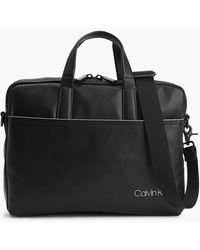 Calvin Klein Malet�n slim para port�til - Negro