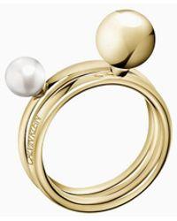 Calvin Klein Ringset - Bubbly - Metallic