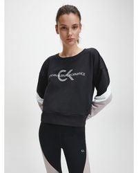 Calvin Klein Colourblocked Sweatshirt Met Logo - Zwart