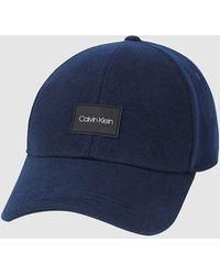 Calvin Klein Kappe aus Filz - Blau