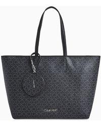 Calvin Klein Tote Bag Met Logo - Zwart