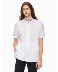 CALVIN KLEIN 205W39NYC - Oversized Zip Short Sleeve Shirt - Lyst