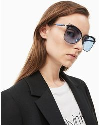 Calvin Klein Vlinder Zonnebril Ck19701s - Blauw