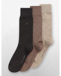 CALVIN KLEIN 205W39NYC - 3 Pack Geometric Dress Socks - Lyst