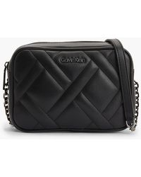 Calvin Klein Gesteppte Crossover-Bag - Schwarz