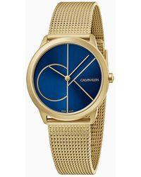 Calvin Klein Unisex Horloge - Minimal - Geel