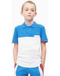 Calvin Klein Colourblock Polo - Wit