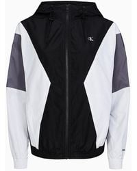 Calvin Klein Colourblock Windbreaker - Zwart
