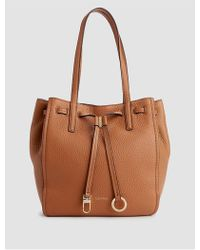 Calvin Klein - Pebble Leather Bucket Tote - Lyst