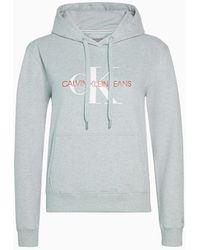 Calvin Klein Sudadera relaxed con capucha y logo - Gris