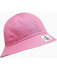 Calvin Klein Unisex Bucket-Hat zum Wenden - Pink