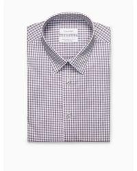 CALVIN KLEIN 205W39NYC - Steel Regular Fit Deep Purple Check Dress Shirt - Lyst