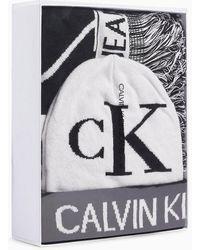 Calvin Klein Cadeauset Van Sjaal En Muts Met Logo - Zwart