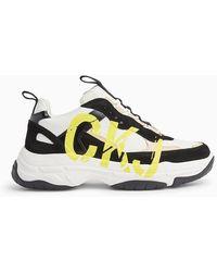 Calvin Klein Leren Chunky Sneakers - Wit
