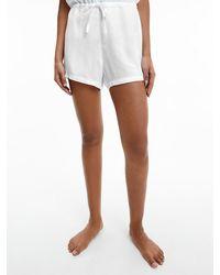 Calvin Klein Pyjama Shorts - White