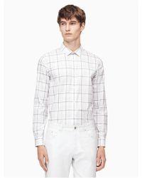 Calvin Klein - Classic Fit Infinite Plaid Shirt - Lyst