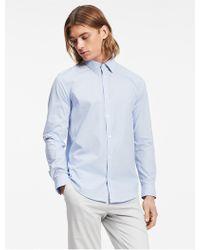 Calvin Klein - Classic Fit Mini Check Poplin Non-iron Shirt - Lyst