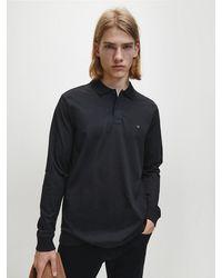 Calvin Klein Polo Met Lange Mouwen - Zwart