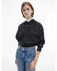 Calvin Klein - Hoodie Van Biologisch Katoen - Lyst