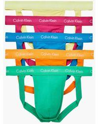 Calvin Klein 5-pack Jock Straps - Pride - Oranje
