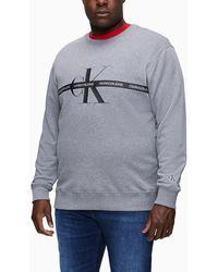 Calvin Klein Geborduurd Sweatshirt Met Logo - Grijs