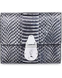 Calvin Klein Lock Leren Trifold Portemonnee - Zwart